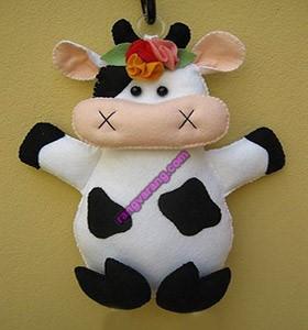 مدل گاو با نمد ساده