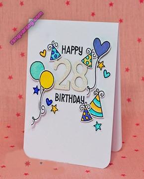 کارت دست ساز تولد زیبا