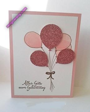 کارت دست ساز تولد دخترانه